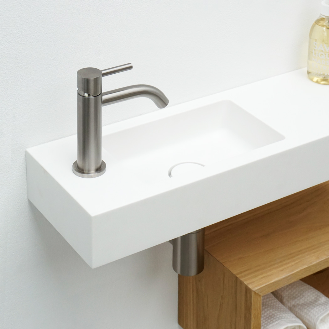 Clay BASIC handrinse Solid surface (HI-MACS) made to measure wash-hand basin
