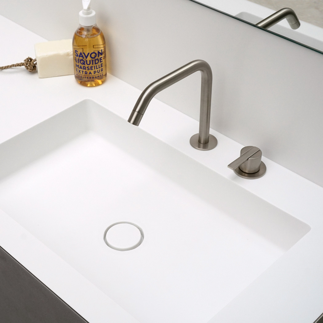 Clay BASIC square Solid surface made to measure washbasin