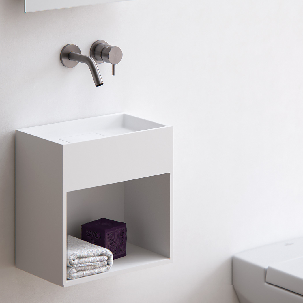 Clay BLOCK - Solid surface toilet fontein op maat