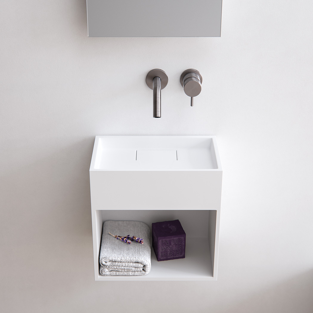 Baths by Clay  Block  Solid surface toilet fontein op maat # Wasbak Corian_232159