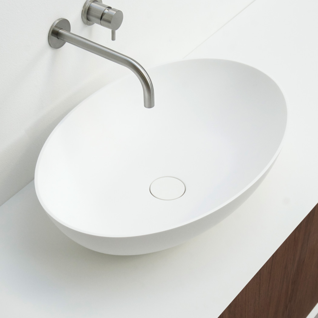 Clay Ellipse - ovale solid surface opzet kom