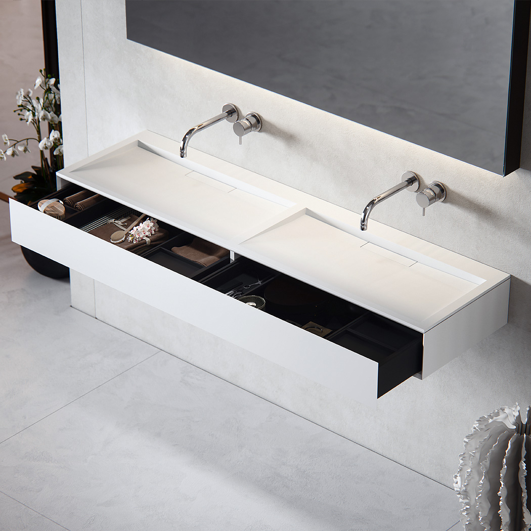 Baths by Clay  Flow  solid surface wastafel op maat # Wasbak Corian_232159