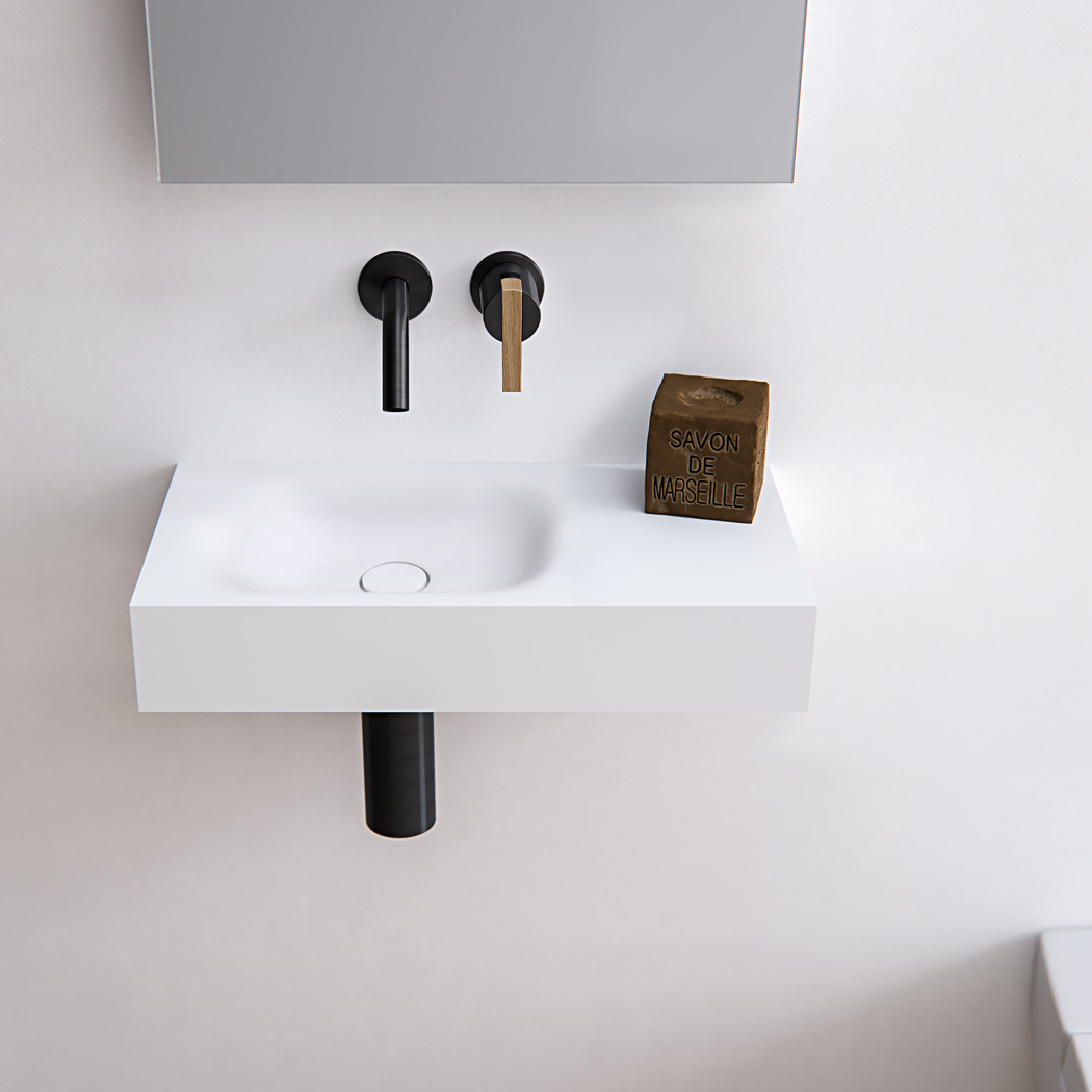 Clay TIMELESS oval Solid surface Hi-Macs made to measure handrinse basin