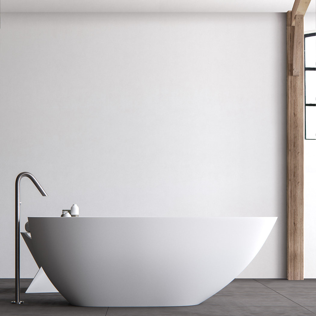 Clay ARK freestanding asymmetrical Solid surface bathtub