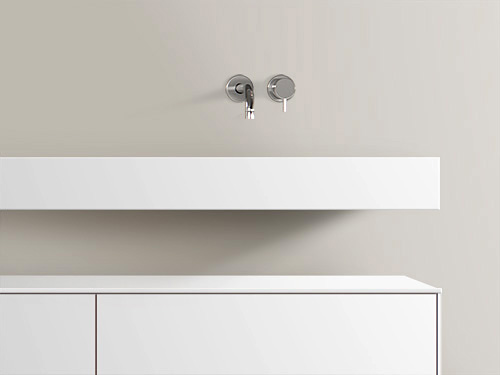 Solid Surface Wastafel : Baths by clay form made to measure solid surface washbasin